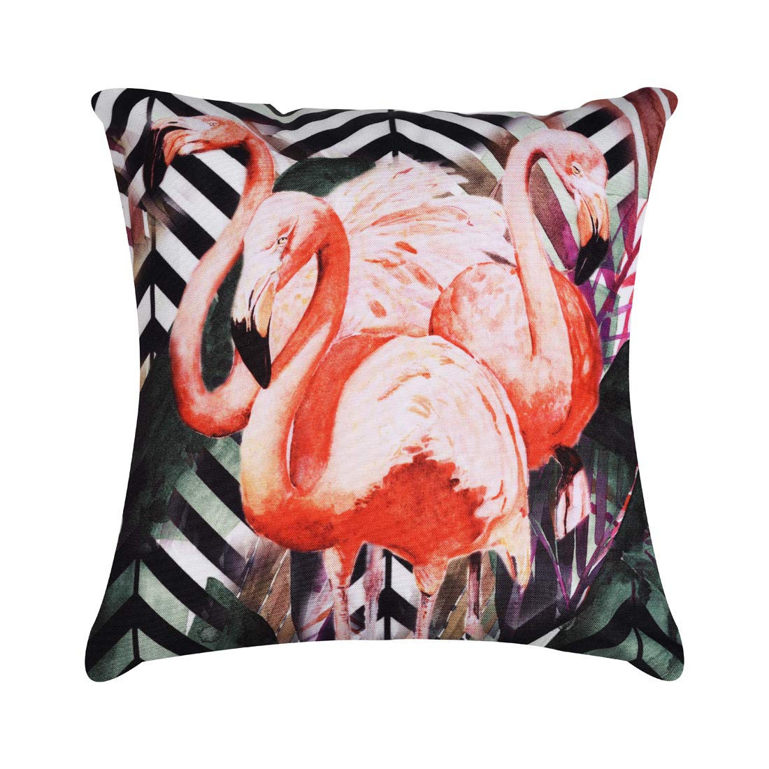 "CDM product Decozen Decorative Throw Pillow with Insert 18""x18"" inches in 1 Set Flamingos Print for Couch Sofa Bed Living Room Bedroom Farmhouse Patio big image"