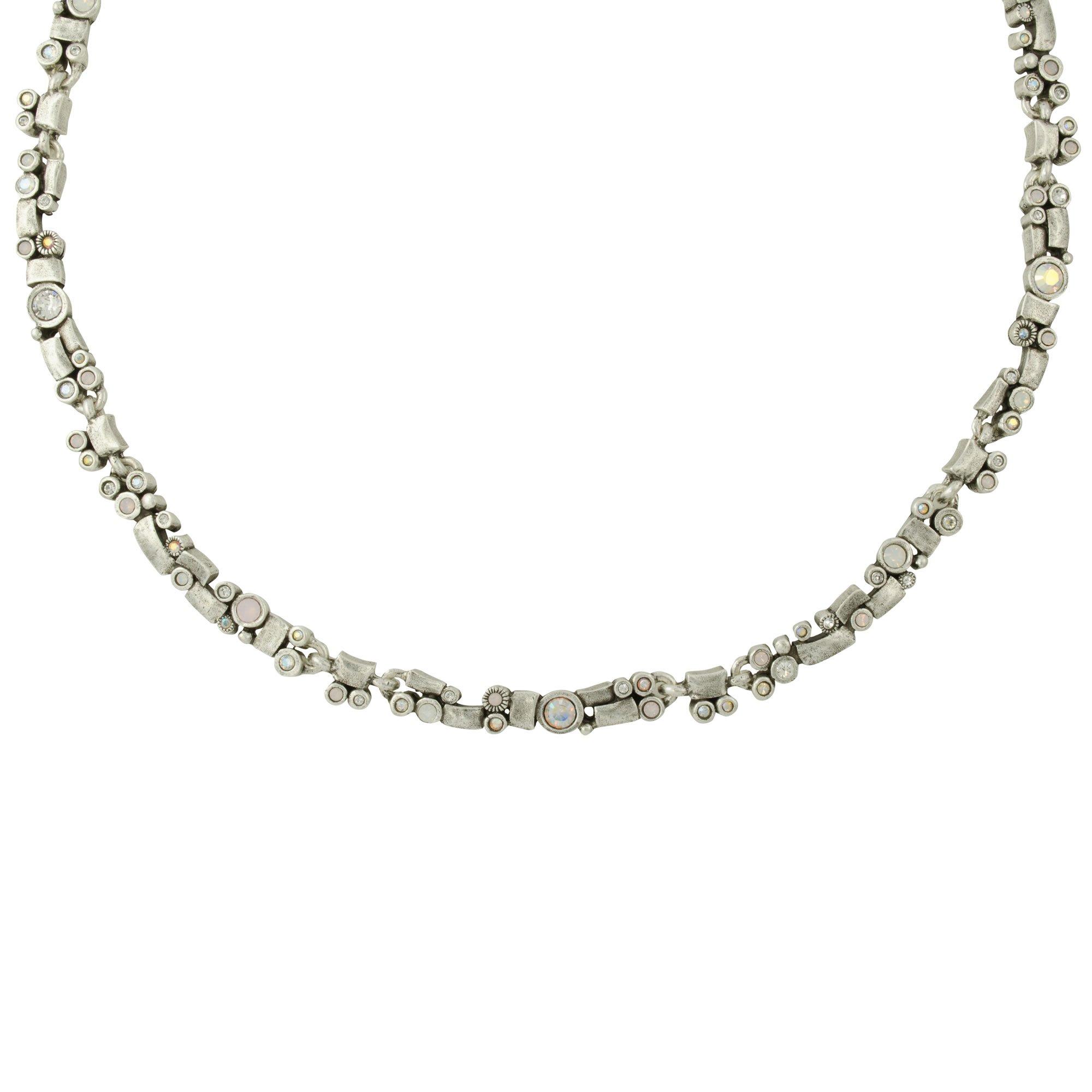 Patricia Locke Bandelier Necklace in Silver, Sugar Color Story