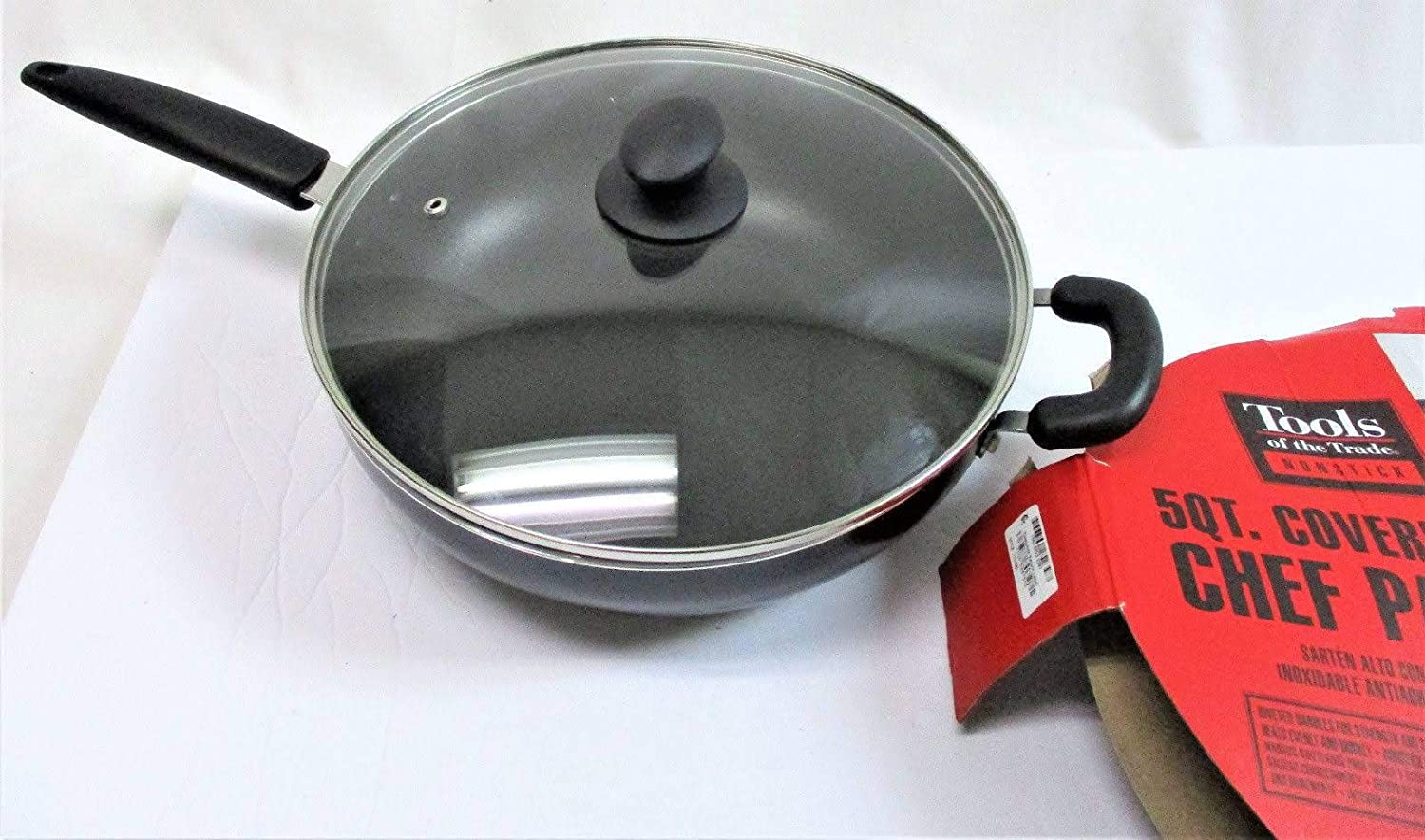Tools of the Trade Basics Nonstick 5 Qt. Covered Chef's Pan
