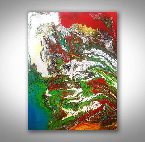 Acrylic Pour Home D\u00e9cor Gift Acrylic Pouring Dutch Pour 20\u201dx20\u201d Original Acrylic Painting Abstract Fluid Art Wall Art Picture