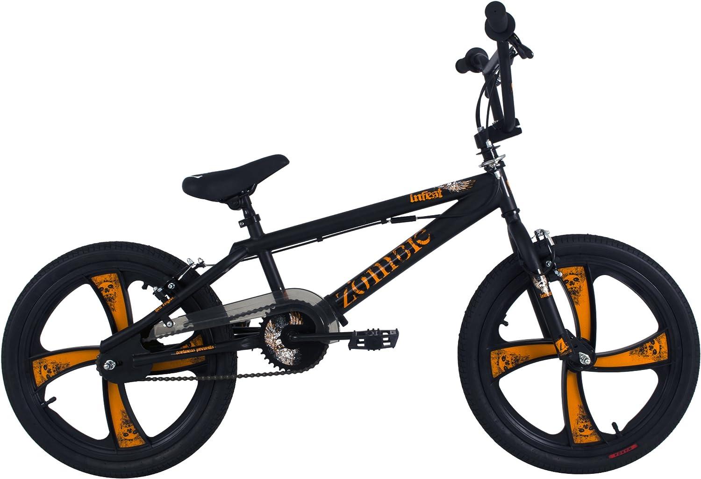 Zombie Infest - Bicicleta Infantil BMX para niño, para Todas Las Medidas a Partir de 135 cm, Color Azul: Amazon.es: Deportes y aire libre