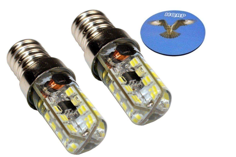 HQRP Dos bombillas LED 64 SMD3014 blanco frío para lámparas de ...