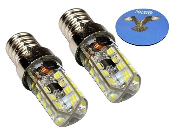 HQRP Dos bombillas LED 64 SMD3014 blanco frío para lámparas ...