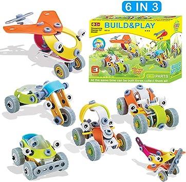 FLYDEER 6 in 3 Costruisci e Gioca Giocattoli STEM Assembla