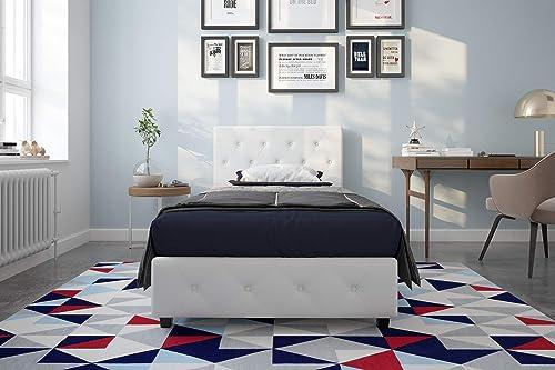 DHP Dakota Upholstered Faux Leather Platform Bed