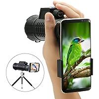 10x52 Téléscope Monoculaire, SGODDE HD Spotting Scope Portable Télescope à Prisme Optique avec Dragonne / Trépied et Adaptateur Idéal pour Randonnée, Camping, Observation des Oiseaux