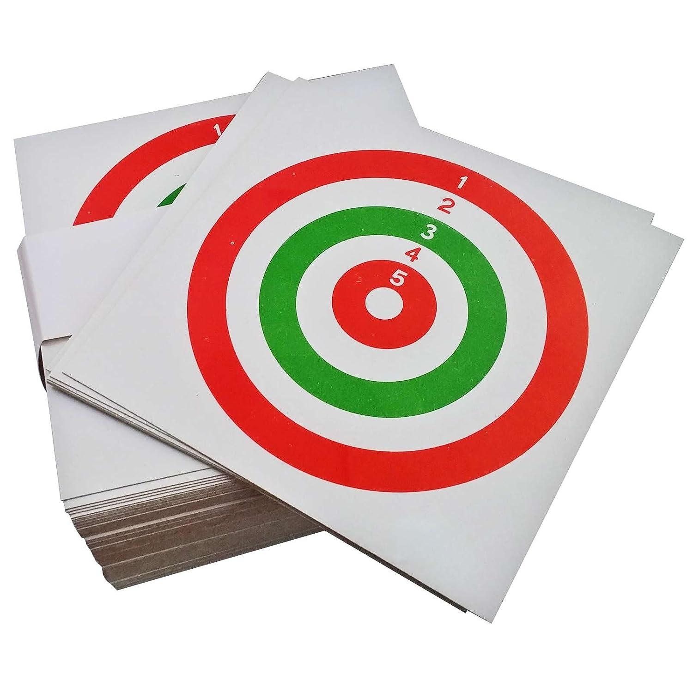 100 Bersagli in Cartoncino Tricolore 14x14 cm Bersaglio Softair Quadrato Area Shopping