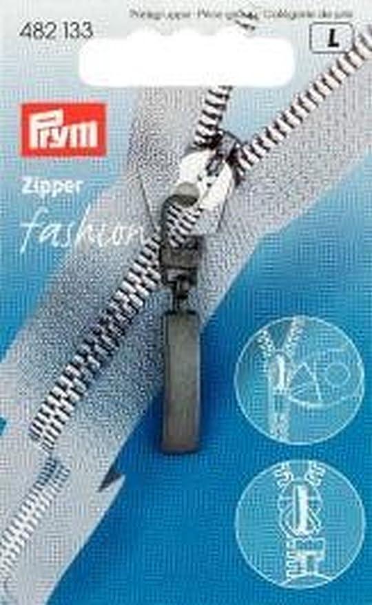 schwarz 9,3/x 5,7/x 0,3/cm Prym Fashion Zip Abzieher Metall