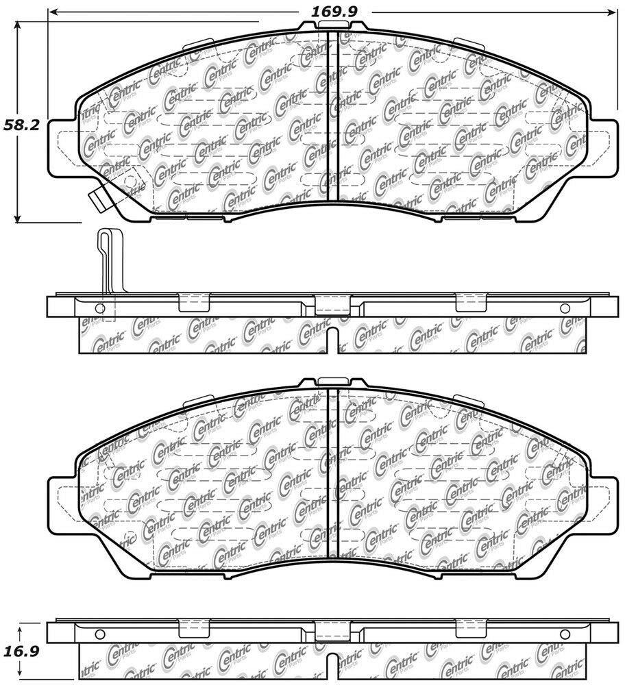 Centric 102.13780 C-Tek Metallic Brake Pad