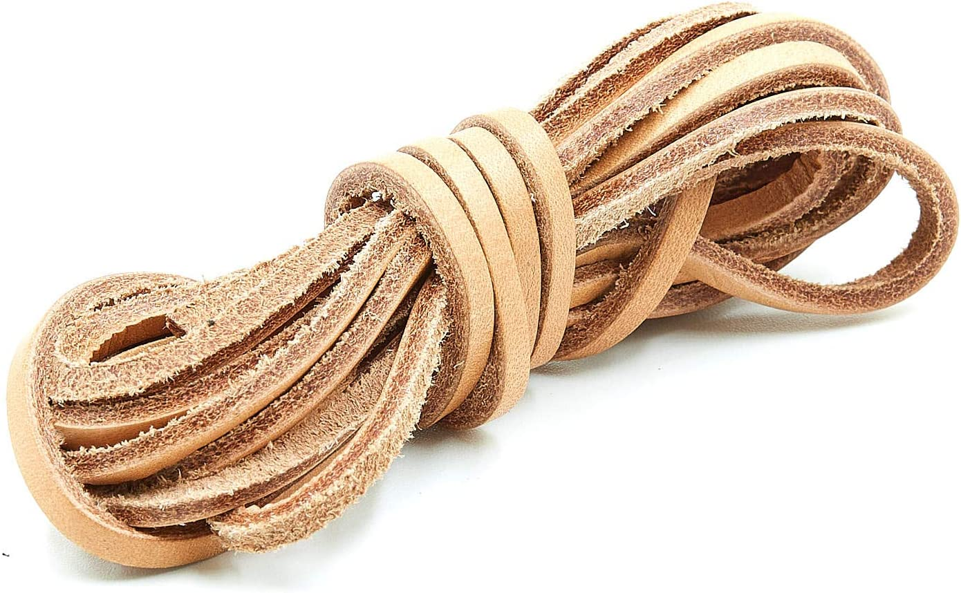 - Dark Brown 72 Gaucho Goods Flat Leather Laces Braided Cord 4 Pack 3mm
