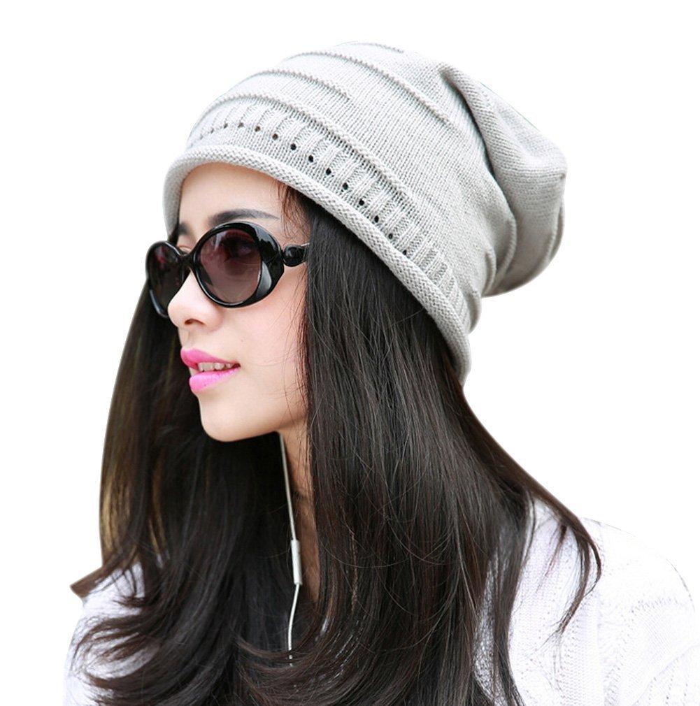 Butterme Unisex caldo di inverno lavorato a maglia Slouchy lavorato a maglia Cappello Chunky morbida...
