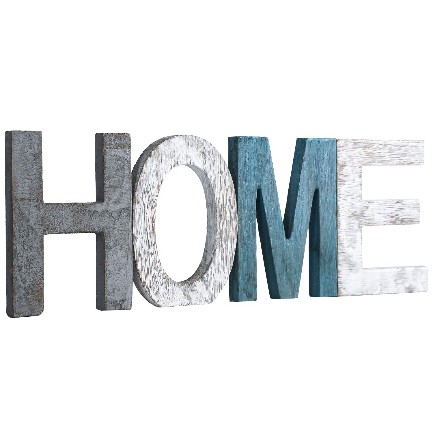 Rustic Wood Home Sign Decor, Home Decor Word
