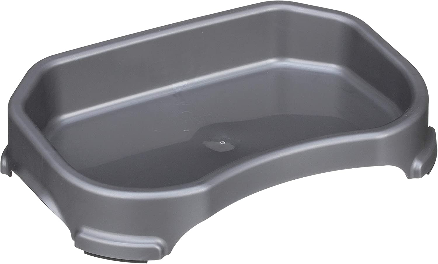 Neater Pet Brands Little Big Bowl for Small Dogs - Large Surface Area Pet Water or Food Bowls (8 Cups/64 oz, Gunmetal)