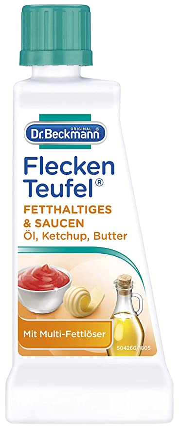 Dr Quita manchas Beckmann Fleckenteufel, de grasas y salsas, 50 ml