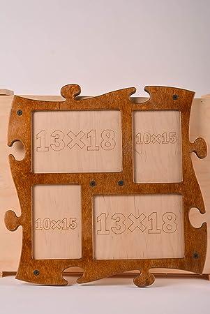 Ausgefallene bilderrahmen selber machen  Amazon.de: Holz Fotorahmen handgefertigt Foto Bilderrahmen ...