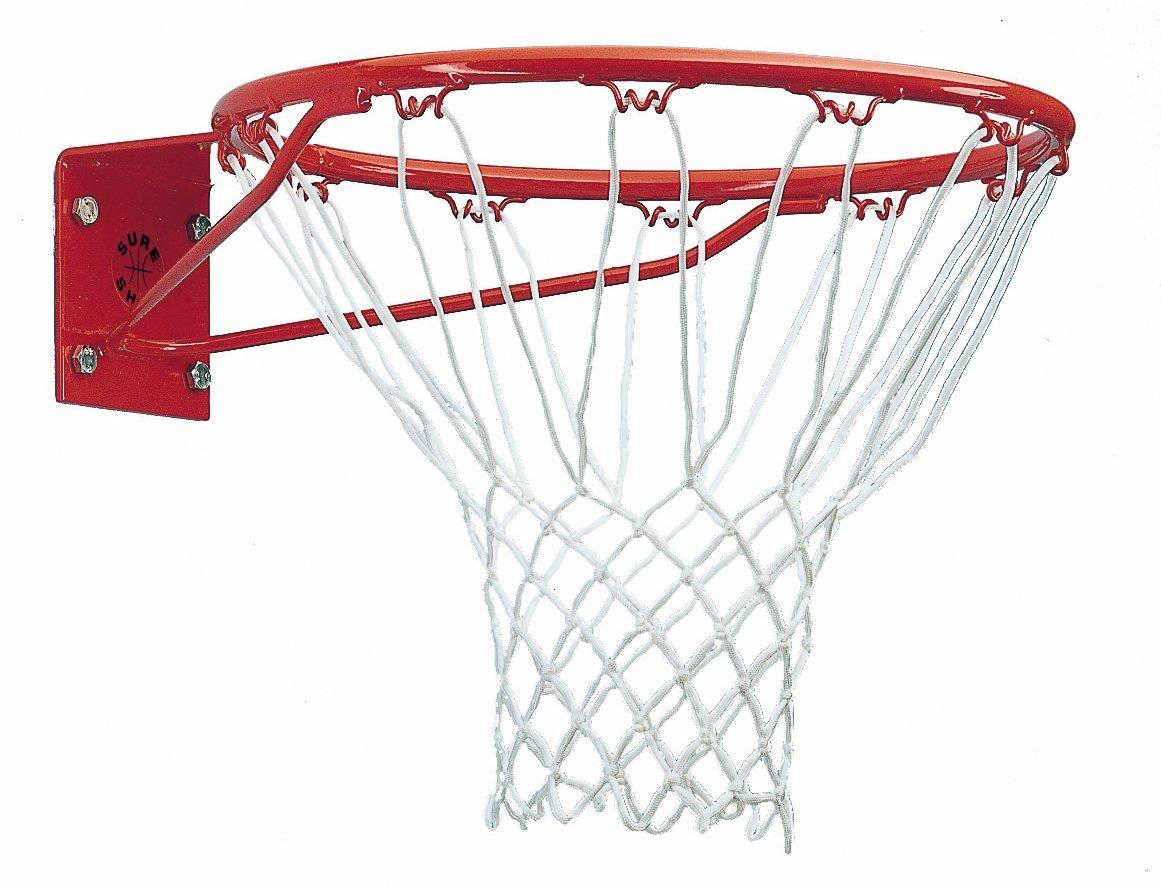 Sure Shot261 - Aro de baloncesto con red, color rojo y blanco 261 Basketball ring