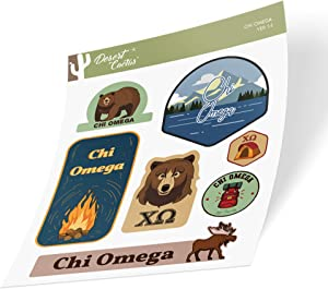 Chi Omega Sticker Decal Laptop Water Bottle Car (Outdoor Sheet)