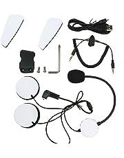 Accesorios intercomunicador. Veetop Accesorios para Casco/ Intercomunicador moto; Auriculares con microfono, Cable cargador, Cable audio, Kit tornillos, Velcro adhesivo