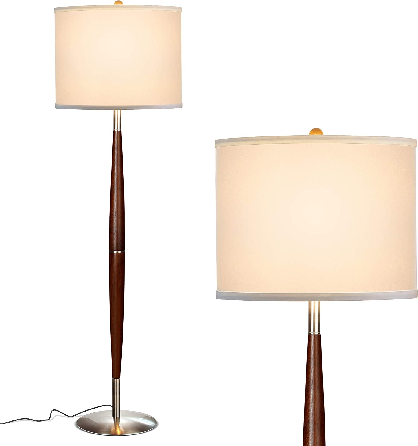 Brightech Lucas - Mid Century Modern Floor Lamp For Bedroom Reading - Brighten Living Room Corners with A Free Standing Light - Tall Office Lighting ...