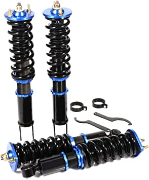 Coilover Struts Spring Shocks Assembly Adjustable Strut Shock Suspension Full Set Kits ECCPP Replacement fit for 1989-1993 Nissan 240SX