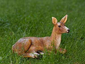 XTAPAN Doe Statue Figurines Deer Animal Sculpture Gift Home Decor,Office or Outdoor Garden Statue Woodland Decoration