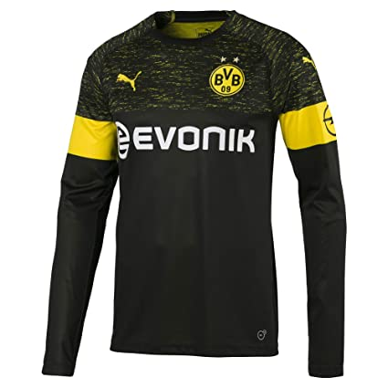 07dcb8b1849a Amazon.com   PUMA 2018-2019 Borussia Dortmund Away Long Sleeve Football  Soccer T-Shirt Jersey   Sports   Outdoors