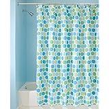 InterDesign Rialto 72-Inch by 72-Inch Shower Curtain, Blue/Green