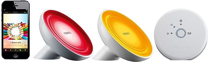 Philips Hue Bloom - Lámpara de mesa conectada y puente ...