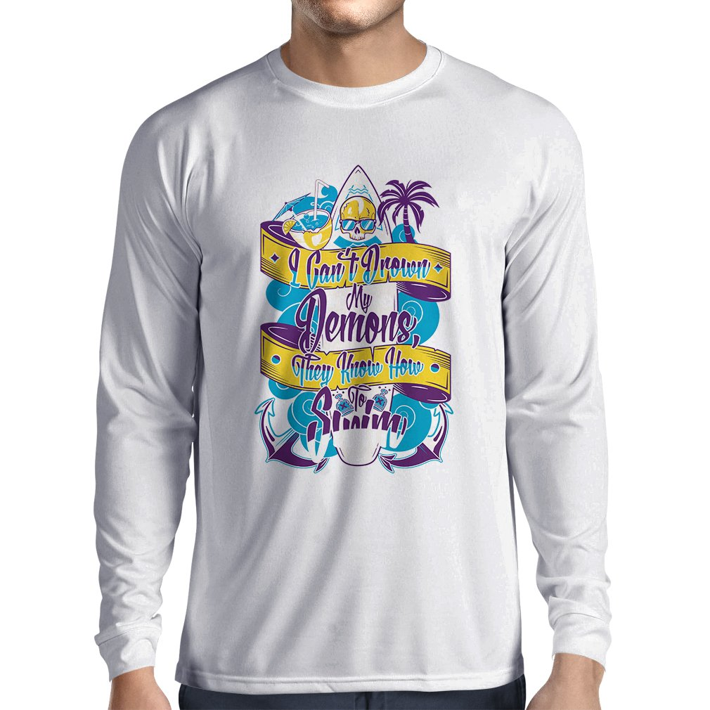 lepni.me Men's T-Shirt I Can't Drown My Demons, They Know How to Swim VACOM ADVARTAIZING Ltd
