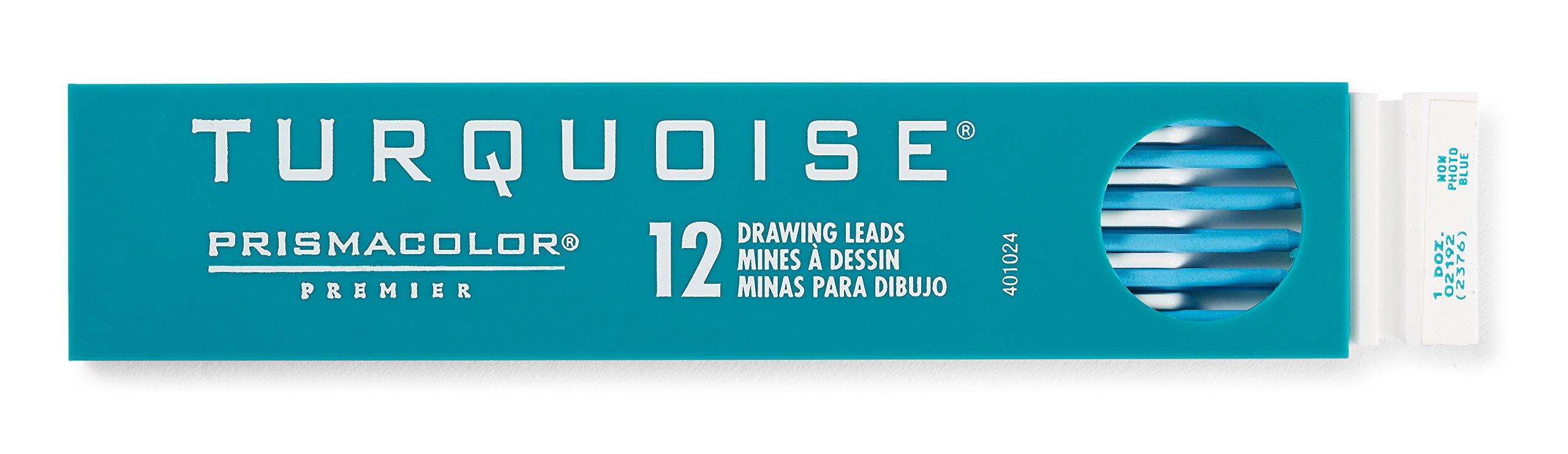 Prismacolor Premier Turquoise Graphite Drawing Leads, Non-Photo Blue, 2mm, 12-Count