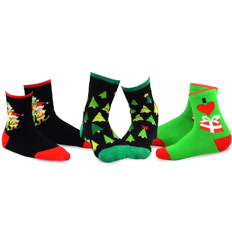 8214783635456 Amazon.com: TeeHee Christmas Kids Cotton Fun Crew Socks 3-Pair Pack:  Clothing