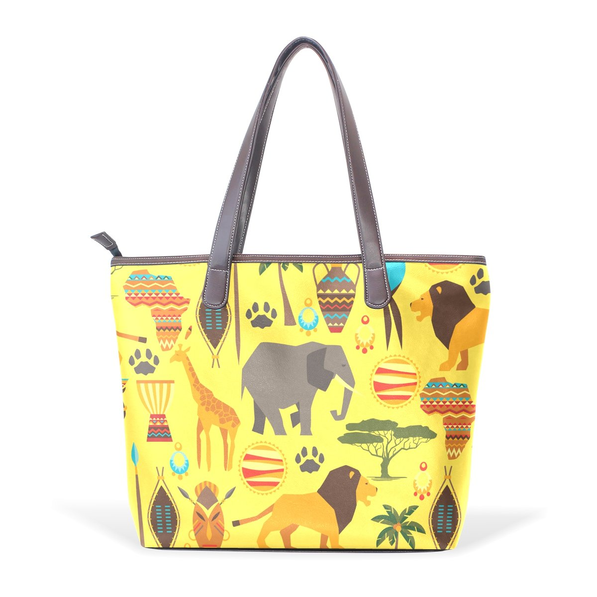 Cute Cartoon Elephant Pattern Print Womens Fashion Large Shoulder Bag Handbag Tote Purse for Lady