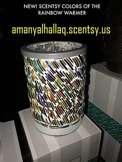 Amazon Com Scentsy Colors Of The Rainbow Lampshade Warmer Home
