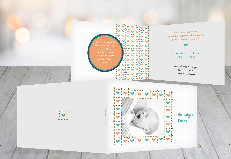 Kartenparadies Danksagung für Geburt Baby Dankeskarte Herzrahmen, hochwertige Danksagungskarte Baby inklusive Umschläge   100 Karten - (Format  148x105 mm) Farbe  Lila B01N4TY9XG   Exzellente Verarbeitung    Deutschland Frankfurt    Moderne un