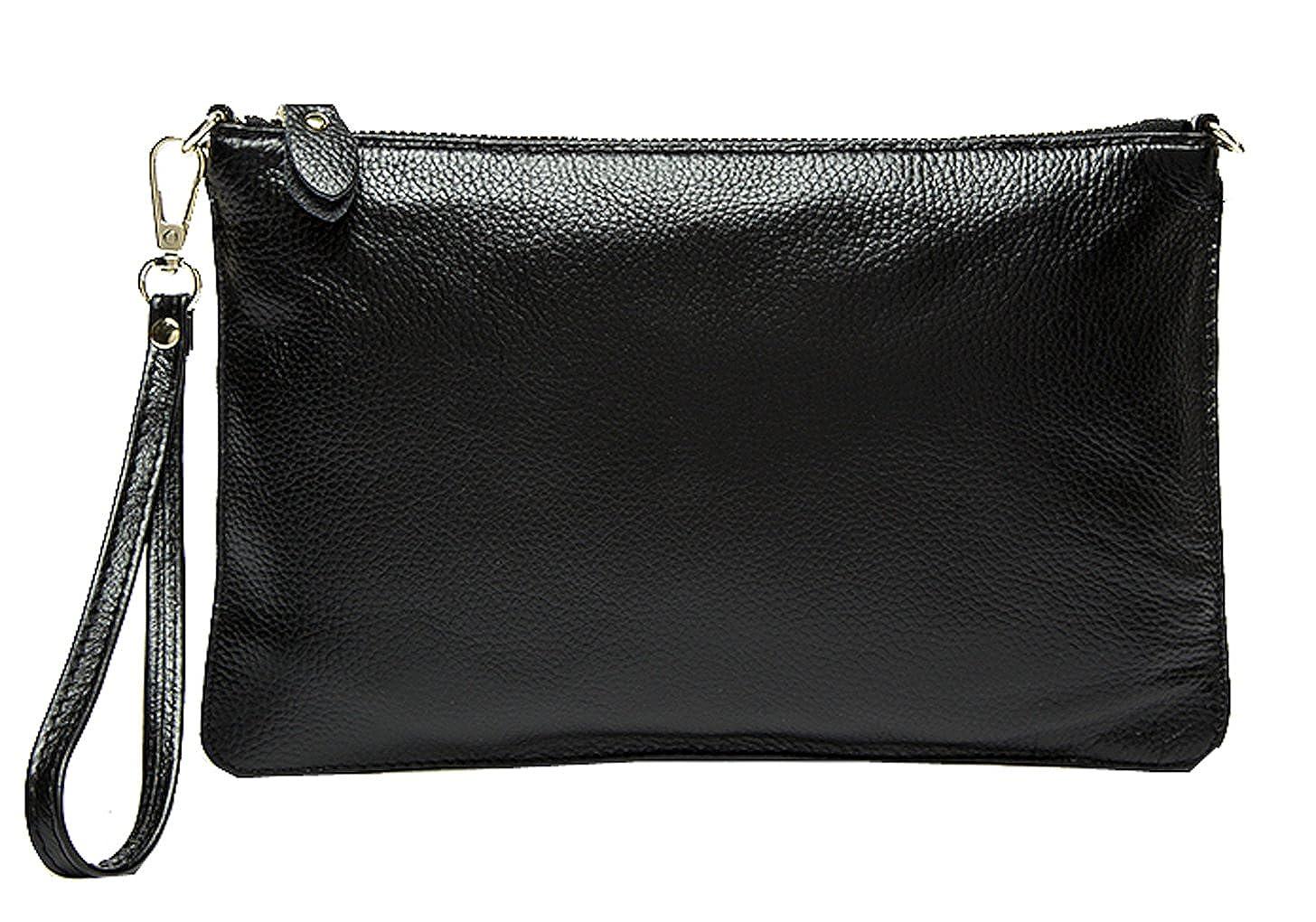 0dd431e0b6 SAIERLONG Ladies Designer Womens Black Genuine Leather Cross Body Bags  Shoulder Bags  Amazon.ca  Shoes   Handbags