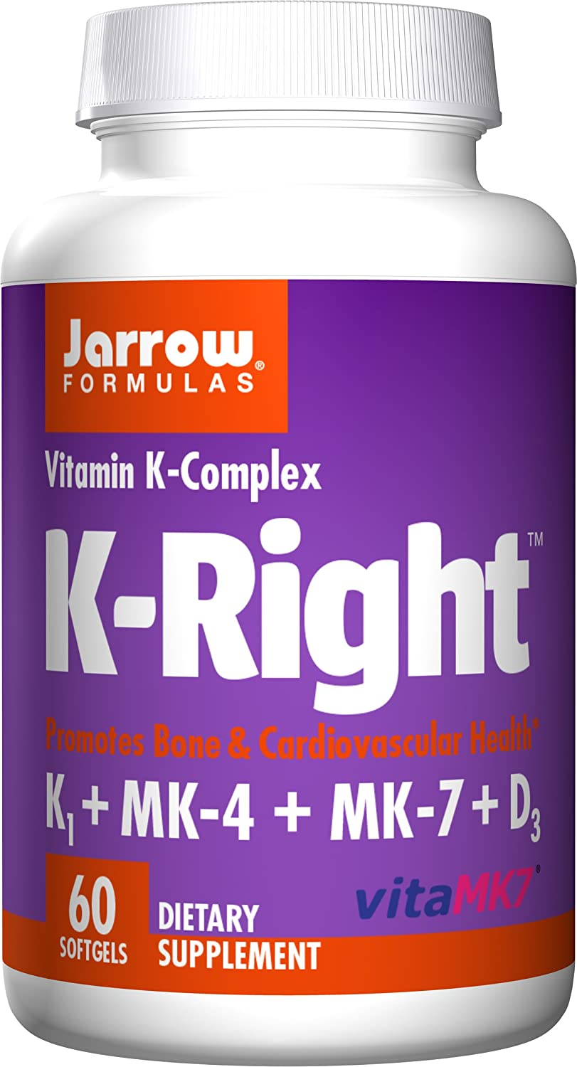 Amazon.com: Jarrow Formulas K-Right, Promotes Bone & Cardiovascular Health, Vitamin K-Complex, 60 Softgels: Health & Personal Care