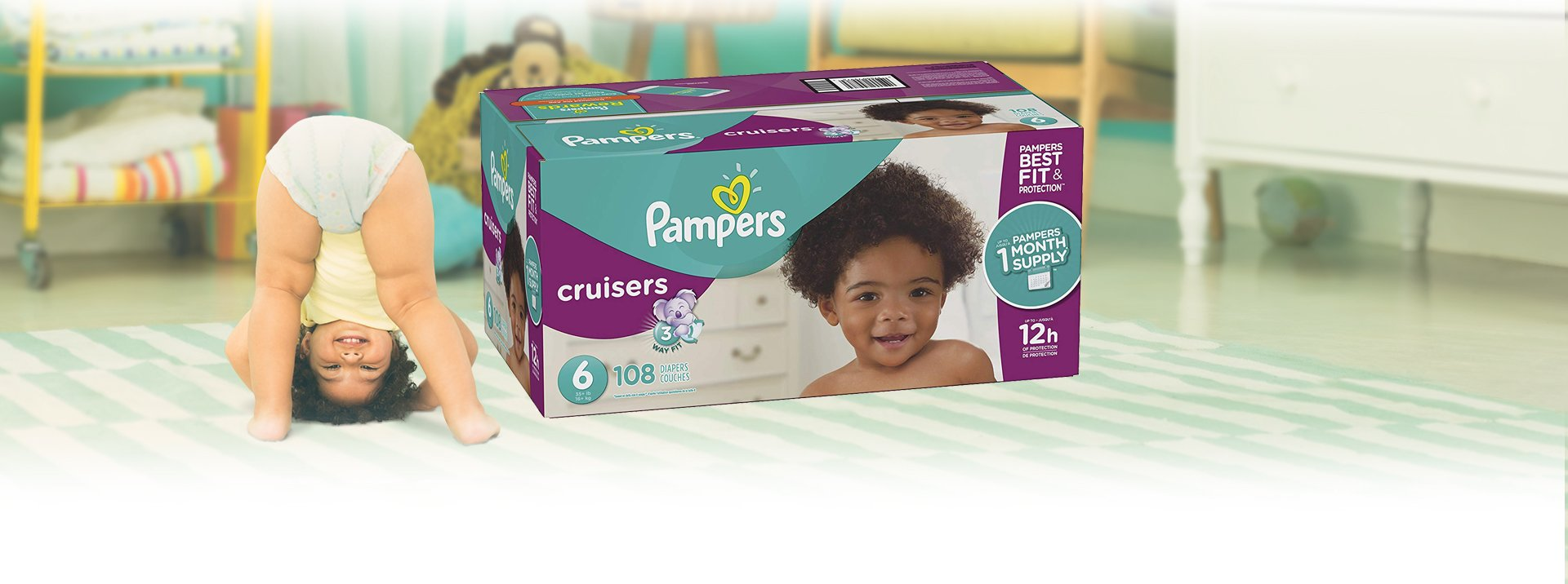 Pampers Cruisers Disposable Diapers Size 6, 108 Count by Pampers (Image #2)