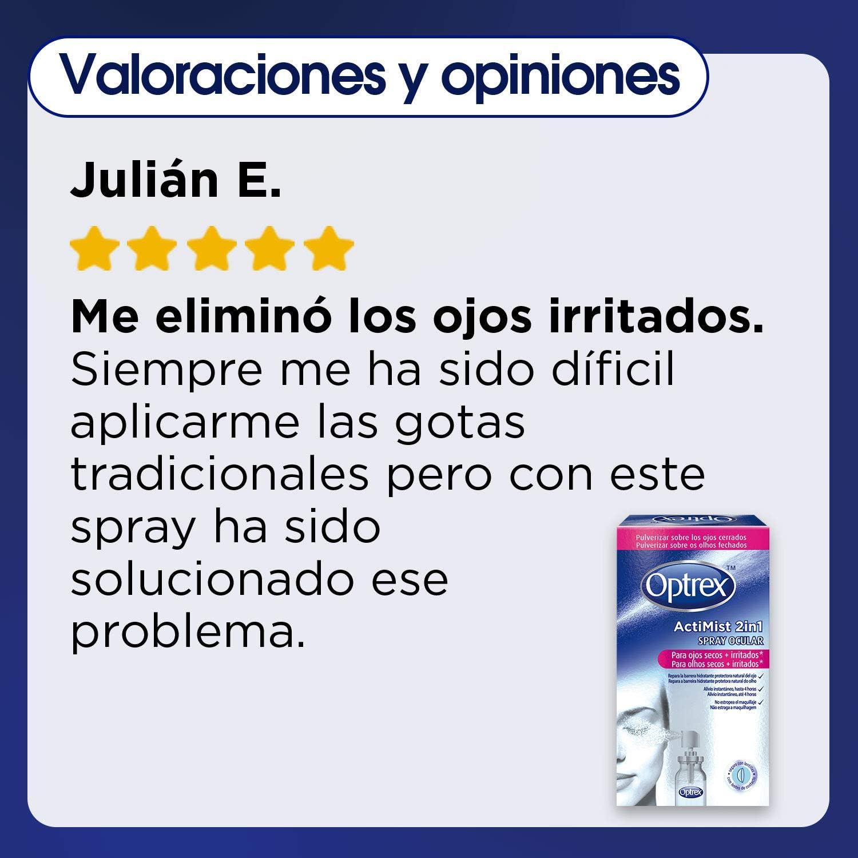 Optrex ActiMist 2in1 Spray Ocular Para Ojos Secos + Irritados ...