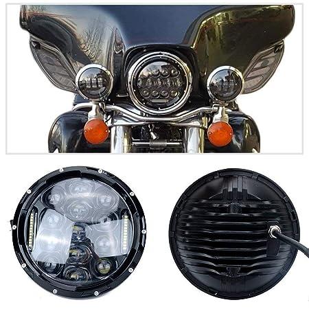 "4Pack 7/"" 75W 7500LM Black LED Headlamp Fog Lamp DRL For Jeep Wrangler Hummer H1"