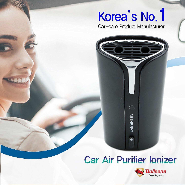 Bullsone Car Air Purifier Ionizer Automobile Cleaner Plug In Aie Therapy Lighter Socket Freshener Food Odor Eliminator Removes Cigarette Smoke Pollen Pollutants