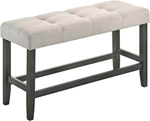Best Quality Furniture Counter Height Bench Only, Beige