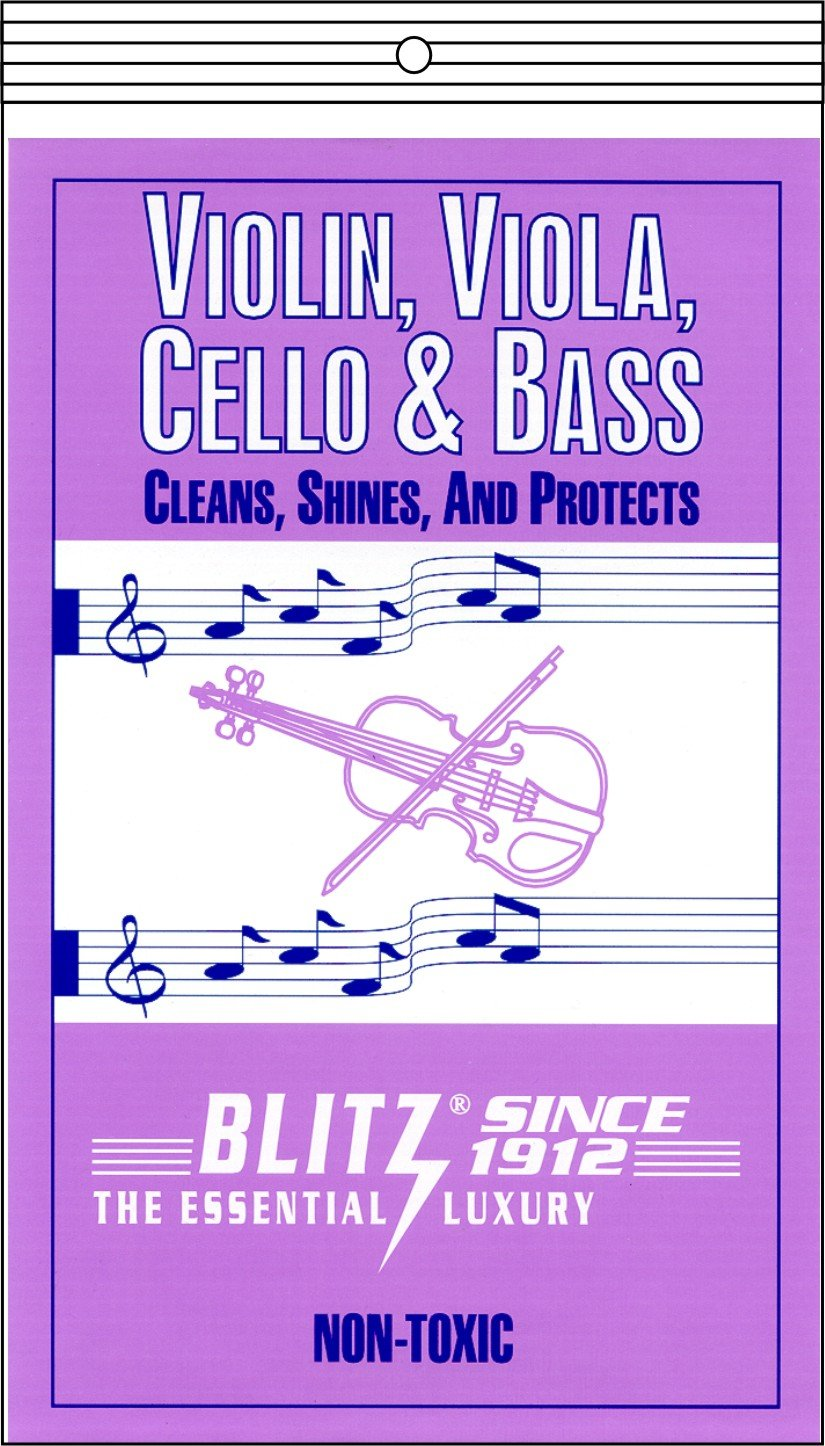 Blitz Music Care 333-4x Violin, Viola, Cello & Bass Care with 2 Cloths Each Pack, Pack of 4 by Blitz (Image #1)