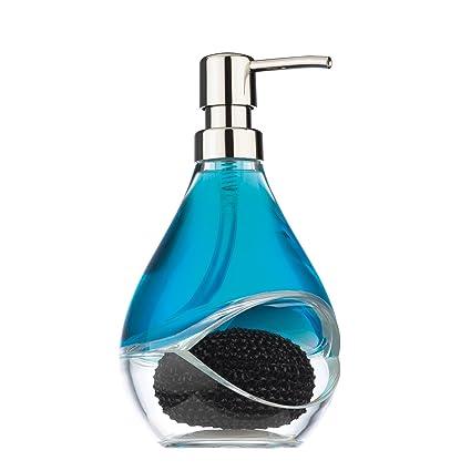 Dispensador de jabón líquido dispensador de jabón con esponja cepillo olla emplear para jabón líquido Umbra