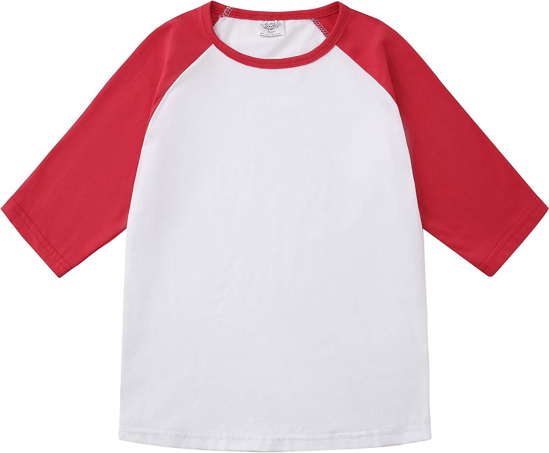 Custom Text Raglan Kids Shirt  Custom Shirts for Kids  Cute Kids Tops  Youth Shirts  Toddler Shirts  34 Sleeve Shirt