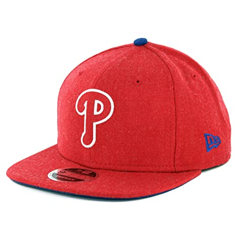 low priced 4fcbd 748b3 Amazon.com   New Era 950 Philadelphia Phillies Heather Hype Snapback Hat ( Heather Red) Cap   Sports   Outdoors