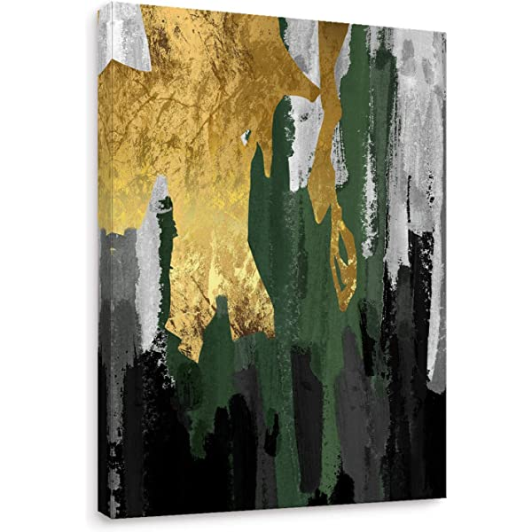 Large Abstract Mountain Wall Art Vintage Forest Nordic Canvas Artwork Brown Modern Landscape Canvas Pictures for Bedroom Bathroom Living Room Kitchen Office Home Decoration Framed Ready to Hang 50 x 70cm