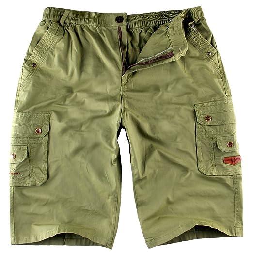 Pantalones Cargos Cortos Bermuda Ikrr Para Hombres n0Nwm8