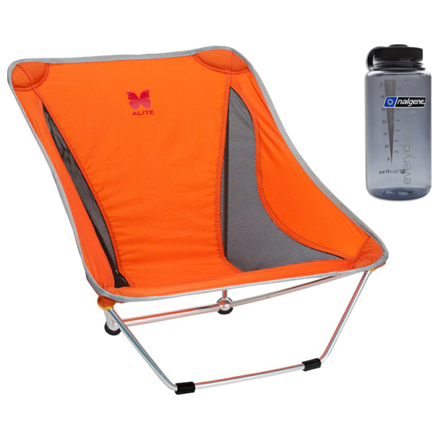 Alite Mayfly Chair - (Jupiter Orange) with Free 32oz Nalgene Water Bottle by Alite Designs
