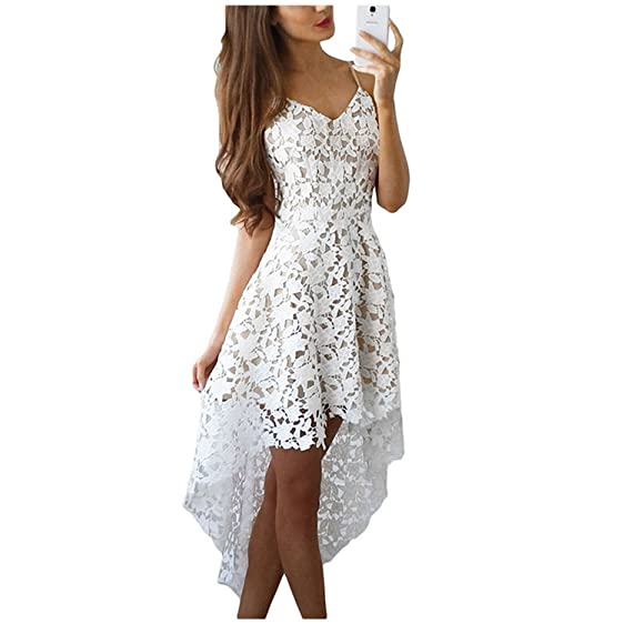 Eloise Isabel Fashion casual dress oco fora elegante lace white dress mulheres party dress vestido curto