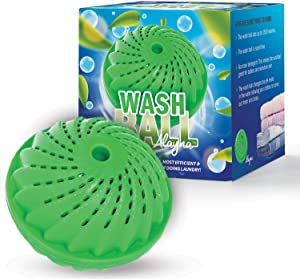 Alayna Laundry Ball Wash Ball- Top Rated Eco Friendly – Reusable for as Many as 1500 Washes - Chemical Free - Detergent Replacement & Alternative